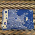 Одеяло детское шерстяное синее 100x140 см