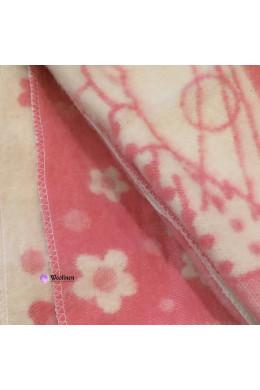 Одеяло детское шерстяное розовое 100x140