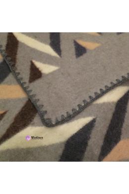 """Одеяло шерстяное """"Зигзаг"""" разноцвет 170x205"""