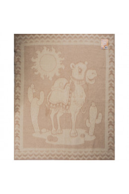 Одеяло детское шерстяное коричневое 100x140