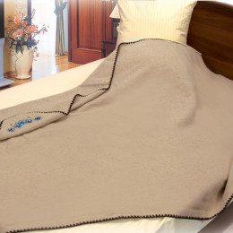 """Одеяло из шерсти и льна """"Эко"""" 140x205"""