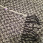 "Плед из шерсти ""Жаккард"" фиолетовый 170x200 см"