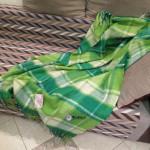 Плед из новозеландской шерсти светло-зеленый 140x200 см