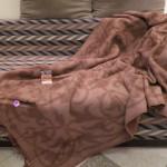 Плед из верблюжьей шерсти коричневый 140x200 см