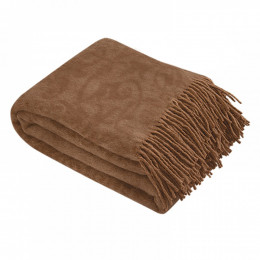 Плед из верблюжьей шерсти коричневый 140x200