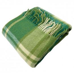 Плед из новозеландской шерсти зеленый 140x200